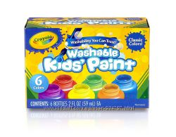 Оригинал 100 набор смываемых красок Crayola гуашь 6 цветов 354 мл