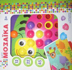 Мозайка крупная для малышей 12 листов 45 фишек