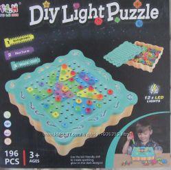 Мозайка с отверткой 196 элементов свет