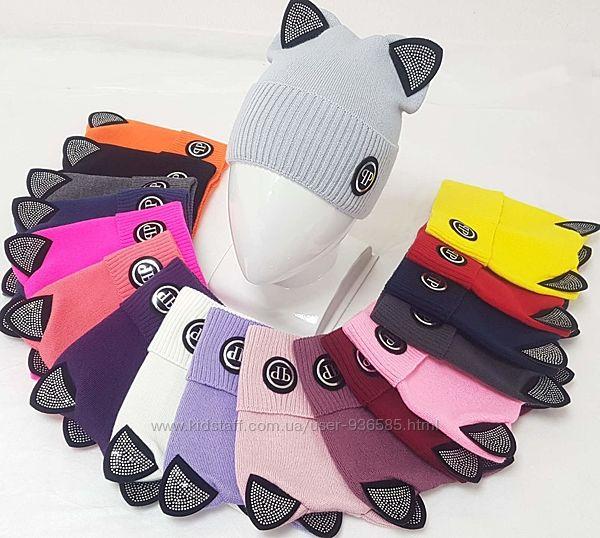 Детская, подростковая шапка с ушками для девочки и мальчика
