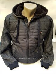 куртка Батник байка с капюшоном на меху Турция