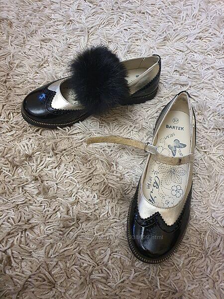 Туфли Туфельки лоферы лаковые кожаные Bartek на девочку новые распродажа