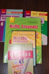 Книги, учебные пособия 6 класс  математика, география, история, немецкий яз