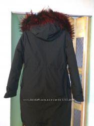 Теплая куртка парка пуховик с натуральным мехом