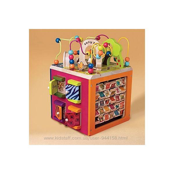 Развивающая деревянная игрушка - Зоо-куб размер 34х30х45 см Battat BX1004X