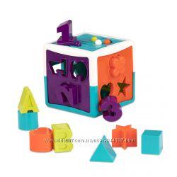 Игровой набор -Развивающая игрушка-сортер - Умный Куб 12 форм Battat Lite