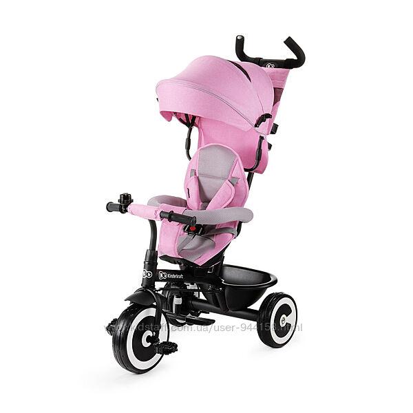 Трехколесный велосипед kinderkraft aston pink 201959 turkus, grey