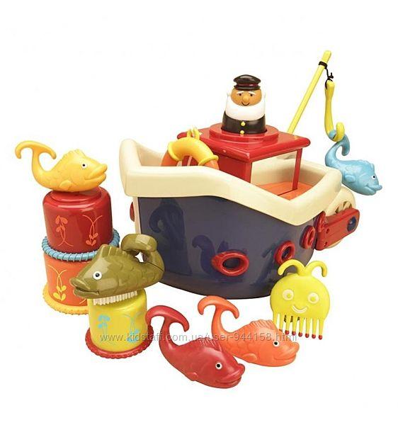 Игровой набор -ЛОВИСЬ, Рыбка для игры в ванной, 12 аксесс Battat