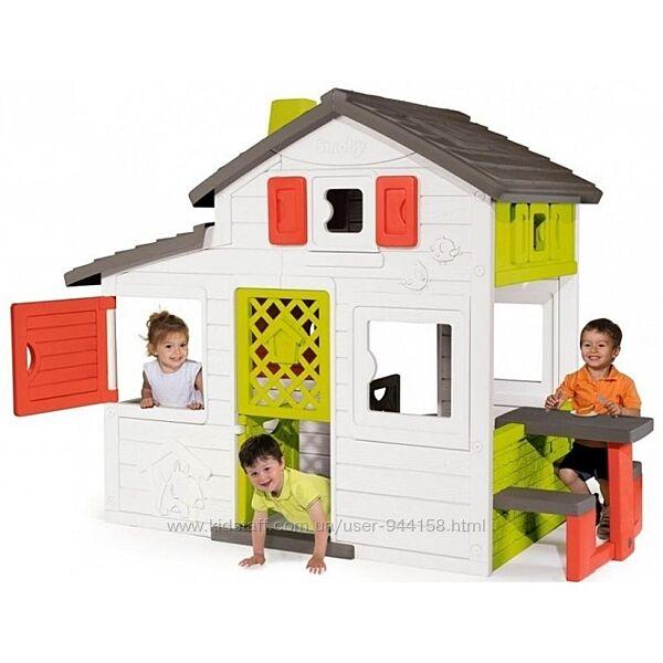 Smoby Toys Дом для друзей с летней кухней чердаком, дверным звонком 810202
