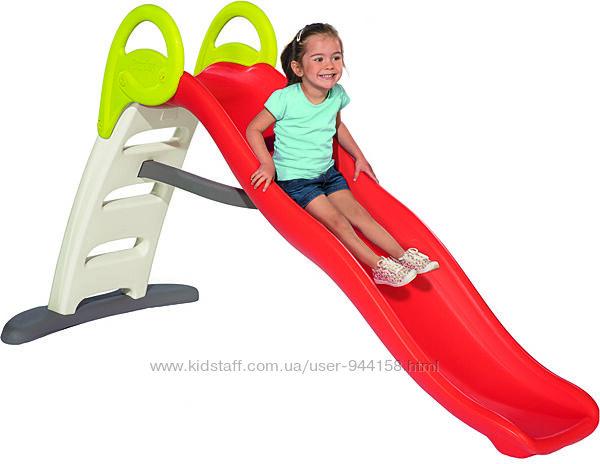 Горка Smoby Toys Веселая волна с водным эффектом длина 200 см красн 820403