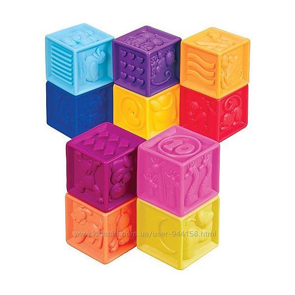 Развивающие силиконовые кубики - ПОСЧИТАЙ-КА 10 кубиков, в сумочке BX100