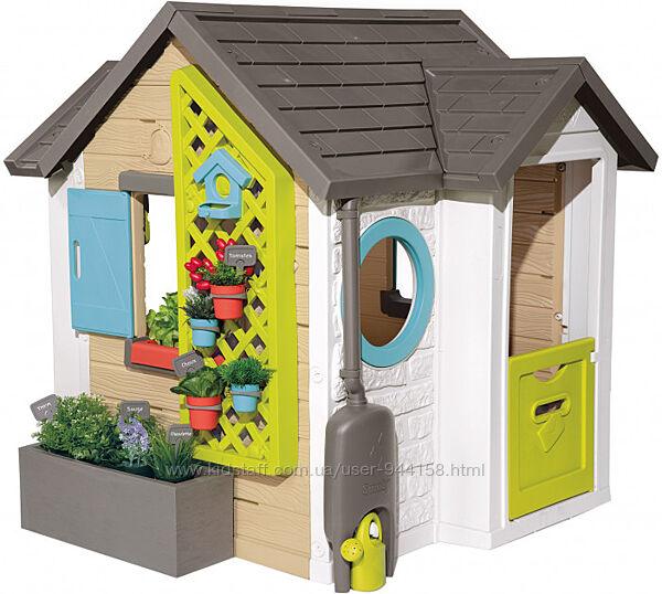 Дом Smoby Toys Садовый с кашпо и кормушкой 810405
