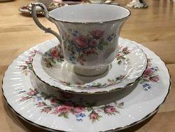 Royal albert Moss rose сервиз костяной фарфор Англия винтаж