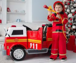 Детский электромобиль Пожарная машина M 3827EBLR-3 4 мотора