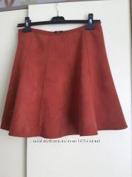 Красивая юбка,  ткань под замшу,  размер S