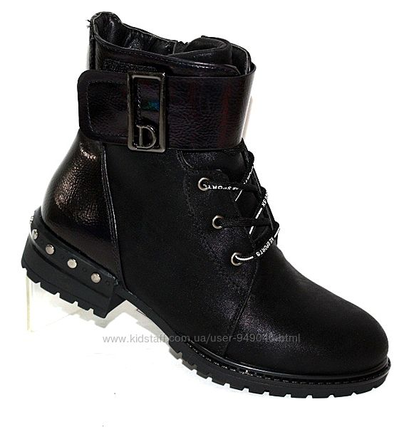модные ботинки из нубука для девочек деми