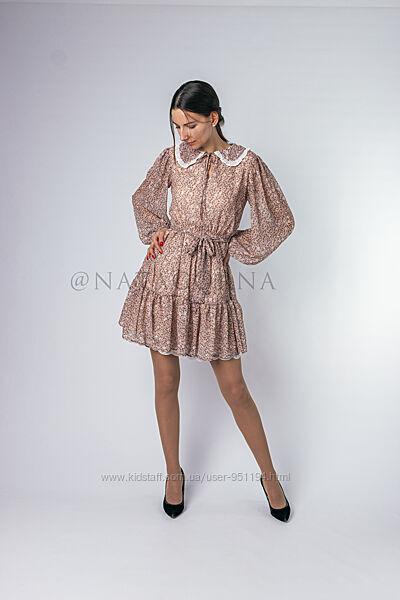 Платье с отложным воротником Турция