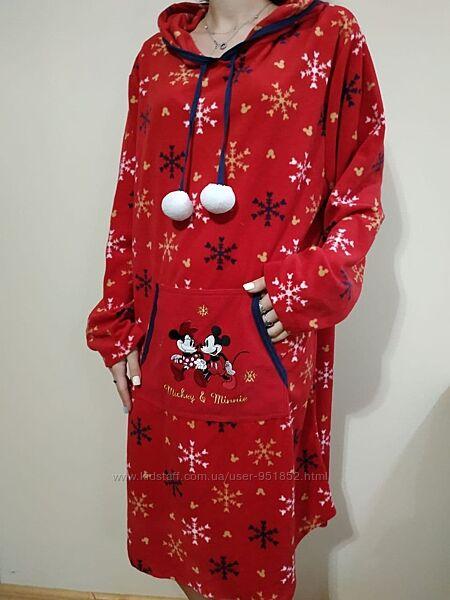 Нежная ночная флисовая рубашка, домашнее дневное ночное платье миди XL