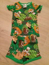 Комплект футболка шортики H&M 2-4 Маугли