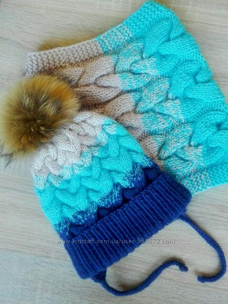 Вязаная шапочка, шапка на осень, зиму, весну, бини, тыквочки