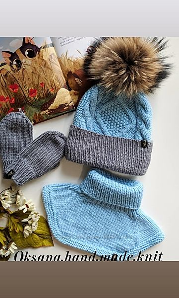Шапки вязаные, зимняя, шапочка, шапка, демисезонная, ручная работа