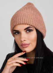 Женская шапка с переливом и широким отворотом, удлиненная, расцветки в нали