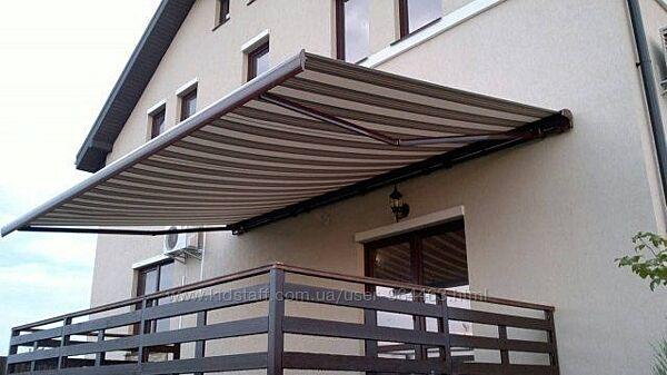 Тканевый навес для балкона