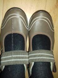 Мокасины кожаные Clarks 24 см