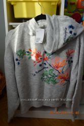 Нова тепла жіноча кофта H&M з вишивкою розм. S більшомірить в наявності