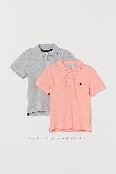 Набір нових футболок поло H&M розм. 2-4 р. /98-104 в наявності