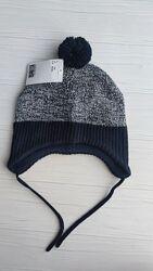 Нова утеплена шапка H&M розм. 6-12 міс. , 1-2 р. і 2-4 р.