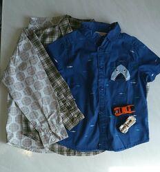 Фирменные рубашечки на мальчика 4-5 лет.