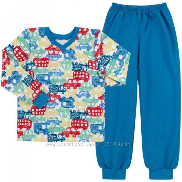 Акция - Теплые пижамы пж41 тм Бемби. Разные. Машинки - Самолеты - р. 92-140