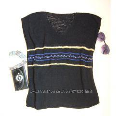 Новая вязанная безрукавка, 100 натуральный шелк.