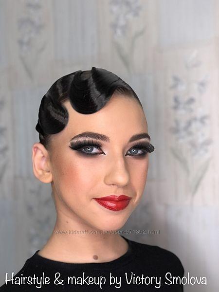 Прически и макияж для бальных танцев, танцевальная прическа