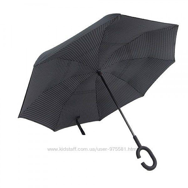 Зонт обратного сложения, черный