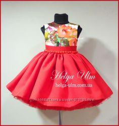 Пышное нарядное платье плюс подарок для девочки, под заказ