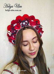 Вінок з помопнів МарциПані для українського костюму