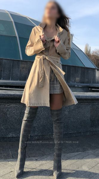 Стильное пальто из натур замши голландская марка Mexx