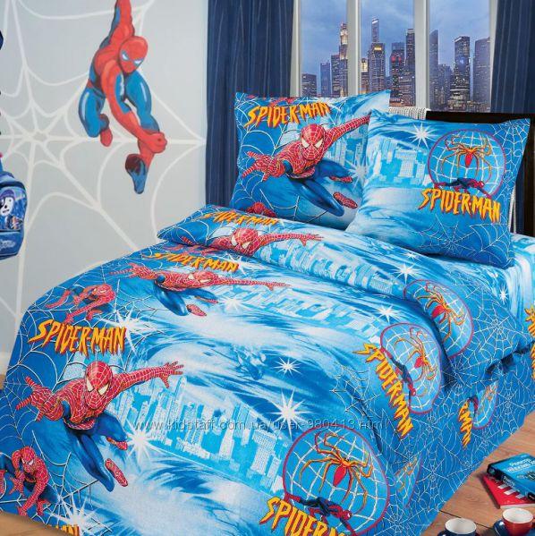 Супергерои, спайдермен, постельное белье для мальчиков