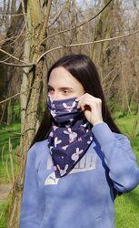Защитная  маска  платок  3 в 1