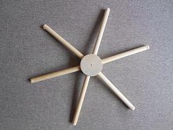 Крестовина для мобиля 6 лучей, дерево бук