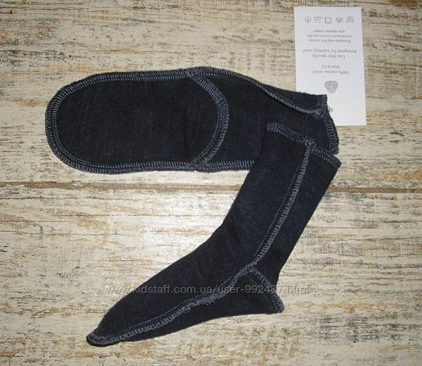 Шерстяные носочки для малышей  6-12 мес.