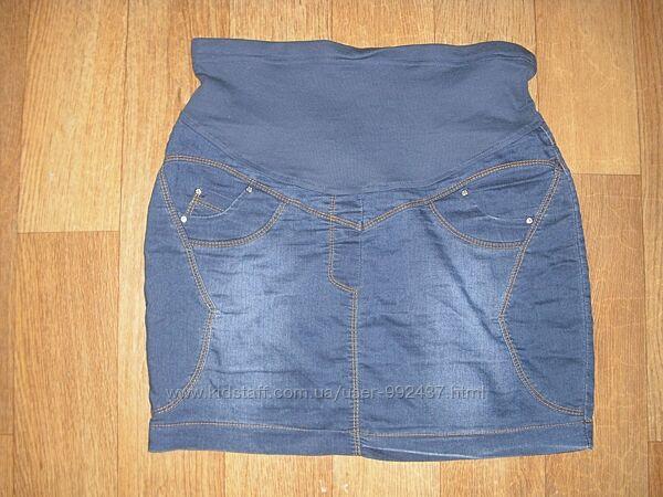 Тонкая летняя юбка для беременных р. 42