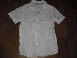 Рубашка лен с коротким рукавом John Lewis  на рост 146