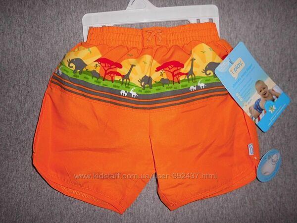 Солнцезащитные купальные шорты I play на 12-18 мес. с памперсом