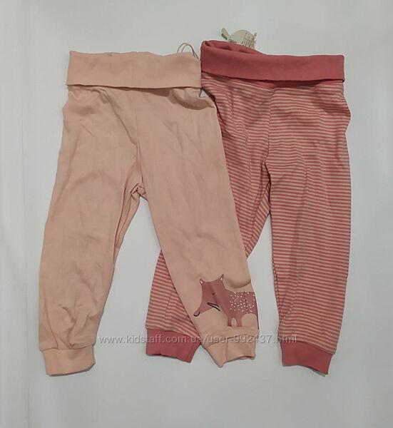 Набор трикотажных штанишек 2 шт. Lupilu р. 62-68 на 2-6 мес.