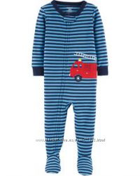 Хлопковые пижамы-слипы Carters для мальчиков. Размеры 12-18-24 мес.