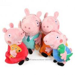 Свинка Пеппа , семья свинки Пеппы мягкая