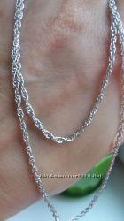Родированные серебряные цепочки Веревочка